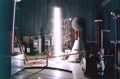 A Tesla Coil in Operation